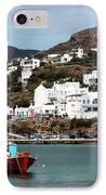 Two Boats In The Mykonos Harbor IPhone Case