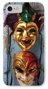 Two Decortive Masks IPhone Case