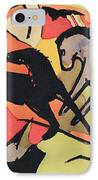 Two Horses IPhone Case by Franz Marc