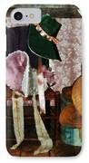 Two Old-fashioned Bonnets IPhone Case by Susan Savad