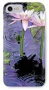 Two Pink Lilies In The Rain IPhone Case