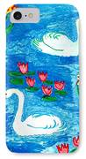 Two Swans IPhone Case by Sushila Burgess