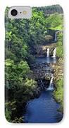 Umauma Falls Hawaii IPhone Case by Daniel Hagerman