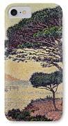 Umbrella Pines At Caroubiers IPhone Case by Paul Signac