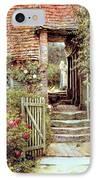 Under The Old Malthouse Hambledon Surrey IPhone Case by Helen Allingham