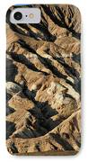 Unearthly World - Death Valley's Badlands IPhone Case by Christine Till