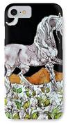 Unicorn Over Flower Field IPhone Case by Carol  Law Conklin