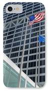 Us Bank With Flags IPhone Case