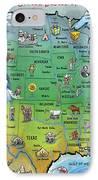 Usa Cartoon Map IPhone Case