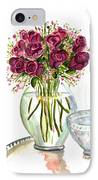 Valentines Crystal Rose IPhone Case
