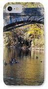 Valley Green Bridge IPhone Case by Bill Cannon