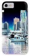 Vancouver Harbor Moonrise  IPhone Case by Will Borden