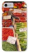 Vegetables At Italian Market IPhone Case by Carol Groenen