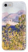 View Of The Cap Dantibes With The Mistral Blowing IPhone Case by Claude Monet