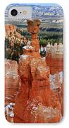 View Of Thor's Hammer In Bryce Canyon IPhone Case by Pierre Leclerc Photography