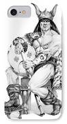 Viking Warrior IPhone Case by Melissa A Benson