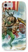 Vikings IPhone Case by Pete Jackson