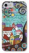 Village By The Sea IPhone Case by Karla Gerard