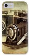 Vintage Cameras IPhone Case by Meirion Matthias