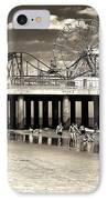 Vintage Steel Pier IPhone Case by John Rizzuto