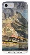 Volcano: Mt. Etna IPhone Case by Granger