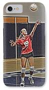 Volleyball Girl IPhone Case by Kelley King