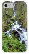 Wahkeena Falls Oregon Waterfall IPhone Case by Dustin K Ryan