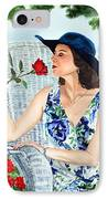 Wake Up And Smell The Rose IPhone Case