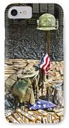 War Dogs Sacrifice IPhone Case by Carolyn Marshall