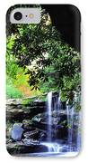 Waterfall And Rhododendron IPhone Case
