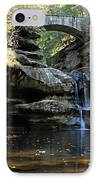 Waterfall At Old Man Cave IPhone Case by Larry Ricker