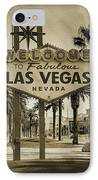 Welcome To Las Vegas Series Sepia Grunge IPhone Case