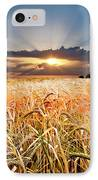 Wheat At Sunset IPhone Case by Meirion Matthias