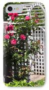 White Arbor In A Garden IPhone Case by Elena Elisseeva