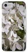 White Hydrangea Bloom IPhone Case