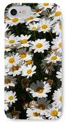 White Summer Daisies IPhone Case