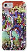 Wild Pastel Ponies IPhone Case by Louise Green