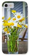 Wildflowers Bouquet At Cottage IPhone Case by Elena Elisseeva