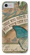 Wings Of Hope IPhone Case by Debbie DeWitt
