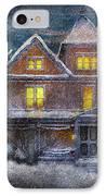 Winter - Clinton Nj - A Victorian Christmas  IPhone Case