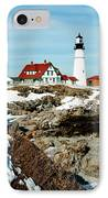Winter At Portland Head IPhone Case by Greg Fortier
