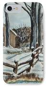 Winter Grazing  IPhone Case by Charlotte Blanchard