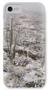 Winter In The Desert IPhone Case by Sandra Bronstein