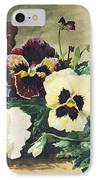 Winter Pansies IPhone Case by Louis Bombled