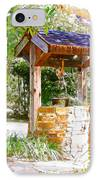 Wishing Well Cambria Pines Lodge IPhone Case by Arline Wagner