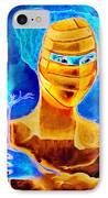 Woman In The Blue Mask IPhone Case