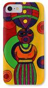 Women With Calabashes II IPhone Case