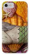 Wooden Mermaid IPhone Case by Garry Gay
