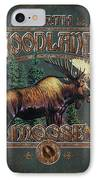 Woodlands Moose IPhone Case