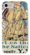 World War I Ywca Poster  IPhone Case by Edward Penfield